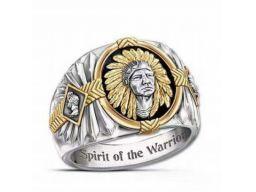 Sygnet pierścień dusza wojownika wódz indianin