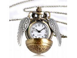 Zegarek kieszonkowy złoty znicz harry potter