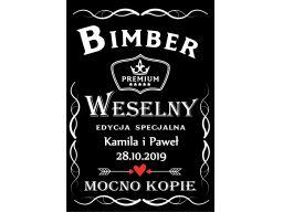 Etykiety naklejki wódkę weselną alkohol bimber100x