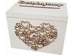 Pudełko na koperty skrzynka drewno ślub wesele