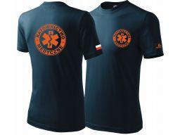 Koszulka ratownictwo medyczne flaga grupa krwi l
