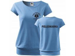 Koszulka dla pielęgniarki z imieniem i nadrukiem m