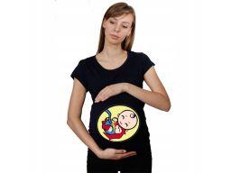 Koszulka mamuśki piżama ciążowa z nadrukiem xxl