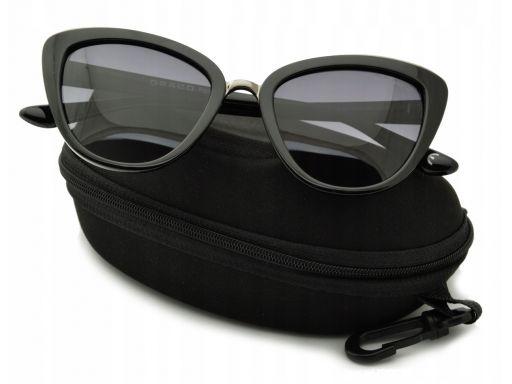 Damskie okulary kocie oczy polaryzacyjne czarne