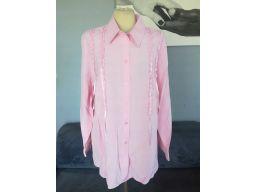 Koszula r.20/48 4xl nowa elegancka różowa guziki
