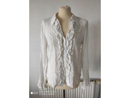 Per una r.14/42 xl koszula nowa falbana biała hit!