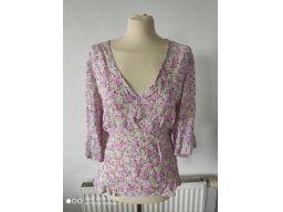 Fashion extra r.46/48 bluzka nowa kwiaty wiązana