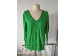Gap r.12/40 l sweter s.bdb karo damski zieleń hit