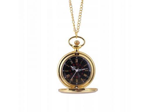Piękny zegarek kieszonkowy złoty gładki
