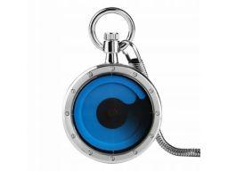 Futurystyczny zegarek kieszonkowy srebrny #1