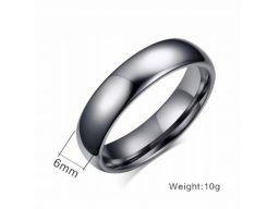 Grafitowa gładka obrączka sygnet pierścień wolfram