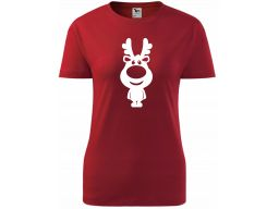 Czerwona koszulka prezent mikołaj święta renifer