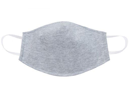 Szara maska bawełniana 3 warstwowa profilowana