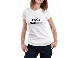 Damska koszulka twój dowolny nadruk kolor xs