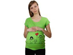 Koszulka mamuśki ciążowa nadruk t-shirt bluzka m