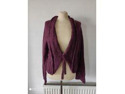 George r.20/48 4xl bolerko/sweter wiązany ażurowy