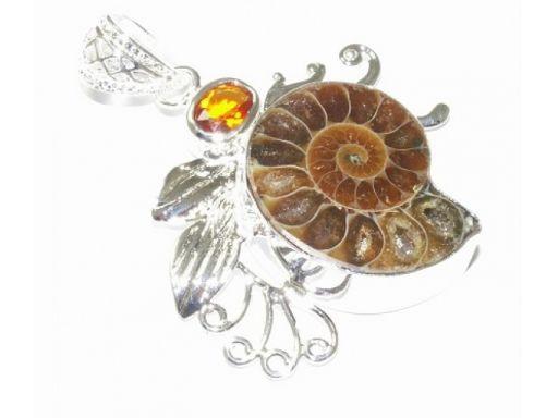 Lux art. zawieszka z kamienia srebro 925
