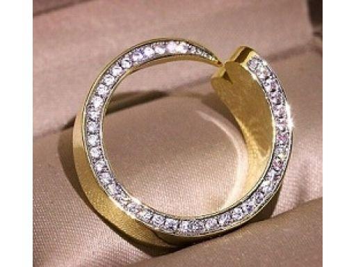 Lux art.pierścionek pokryty złotem