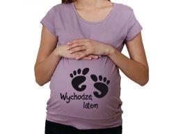 Koszulka nocna damska ciążowa do porodu wzory l