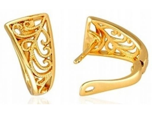 Lux art.kolczyki pozłacane 18k złotem