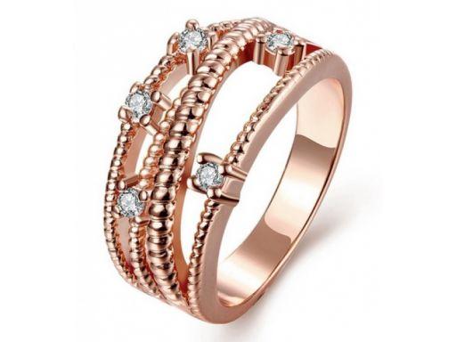 Lux art.pierścionek pozłacany 18k