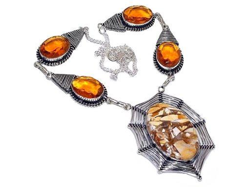 Lux art.naszyjnik z kamieni srebro 925