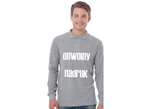 Koszulka bluzka polo long z własnym nadrukiem man