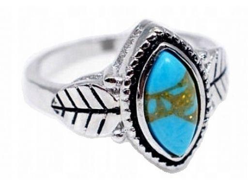 Lux art.pierścionek posrebrzany