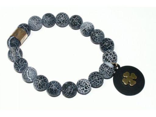 Lux art.bransoletka agat trawiony