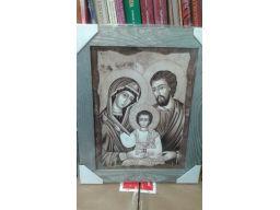 Obraz święta rodzina duży grawer