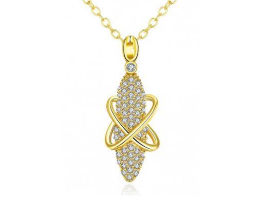 Lux art.naszyjnik pokryty 18k złotem